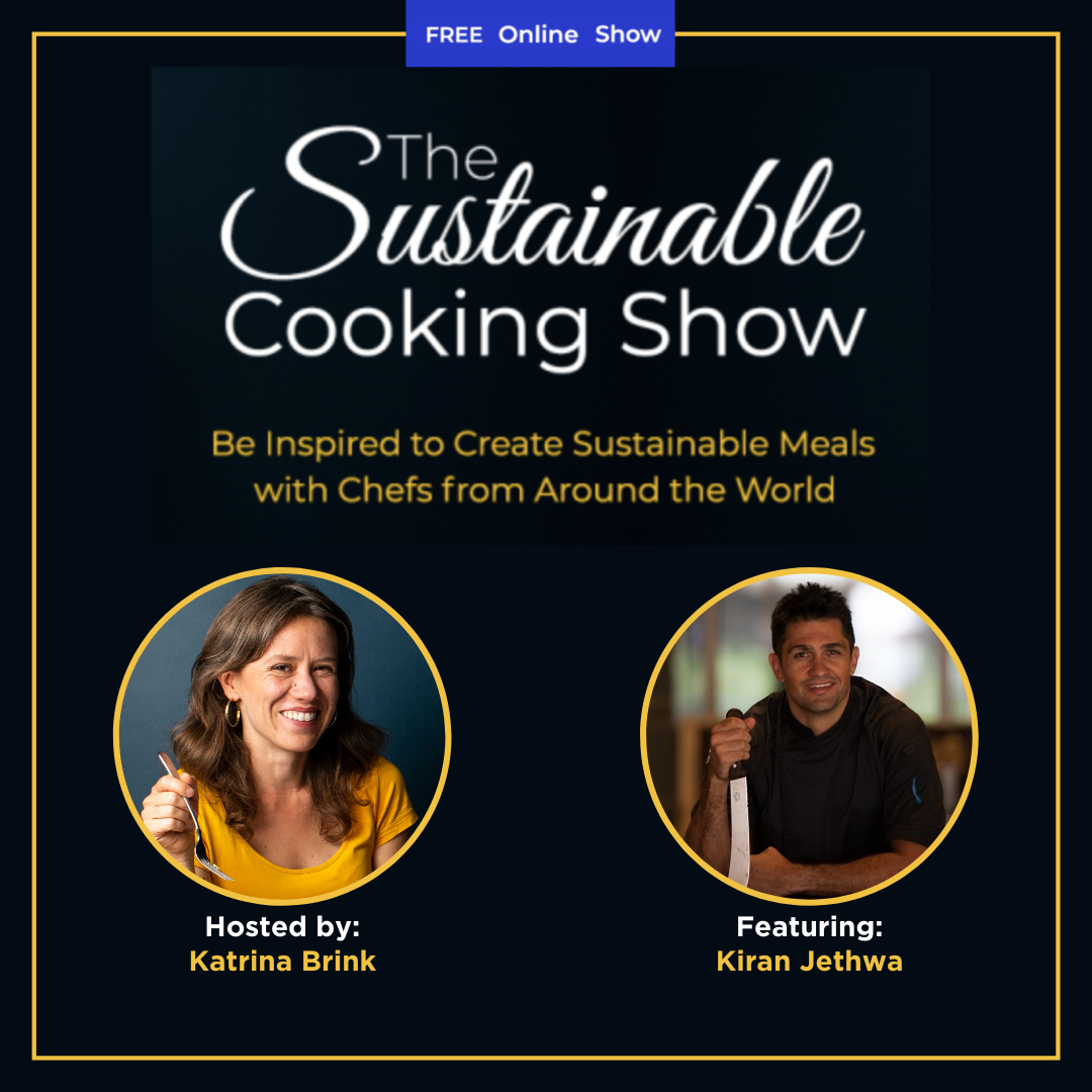 The Sustainable Cooking Show - speaker graphic - Kiran Jethwa