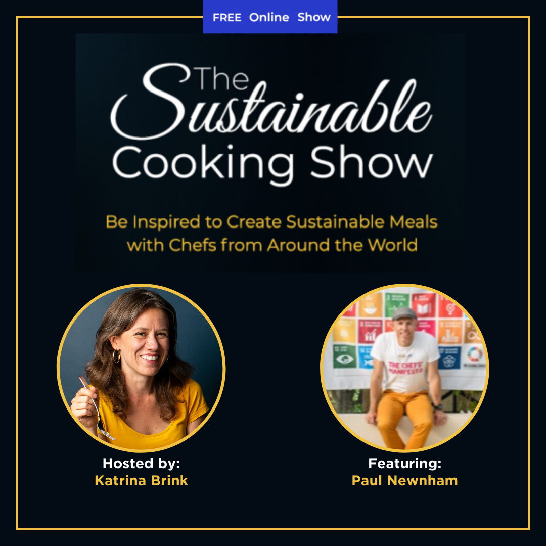 The Sustainable Cooking Show - speaker graphic - Paul Newnham