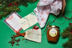 Foodie Holiday Gift Box with Spices, Honey and 1 virtual cooking class