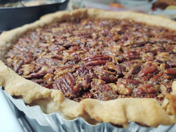Whiskey Pecan Tart with Sweet Pastry Dough